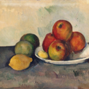 Paul Cezanne's painting of apples and lemons in a bowl