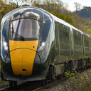 great western train in countryside