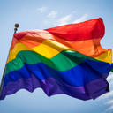 LGBT flag blowing in the wind