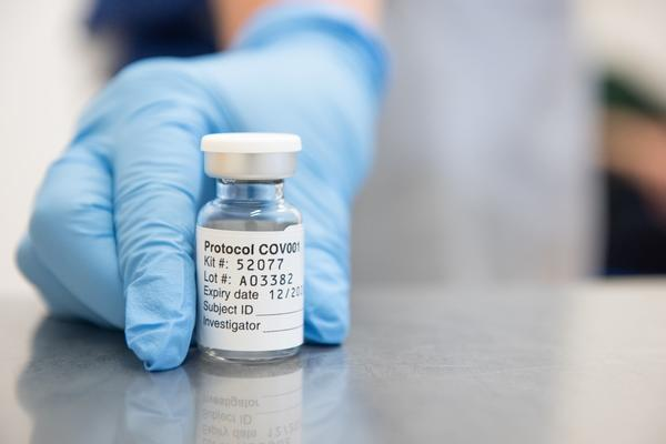Vaccine vial at the Jenner Institute by John Cairns