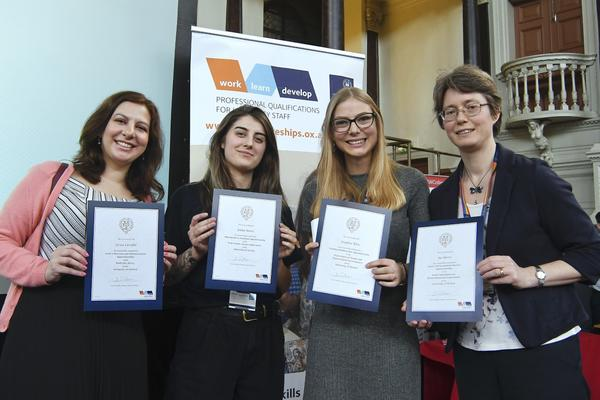 Members of staff with training certificates