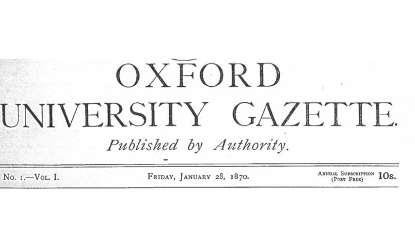 gazette  first issue